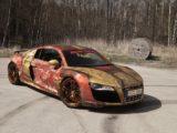 """Audi R8 V10 от дизайн студии Skepple на тему """"Железный человек"""""""