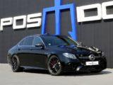 """Mercedes AMG E63 S """"Чёрный рыцарь"""" от немецкого тюнинг ателье Posaidon."""