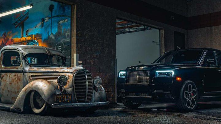 Rolls-Royce Cullinan в американском городе Los-Angeles с хот-родом