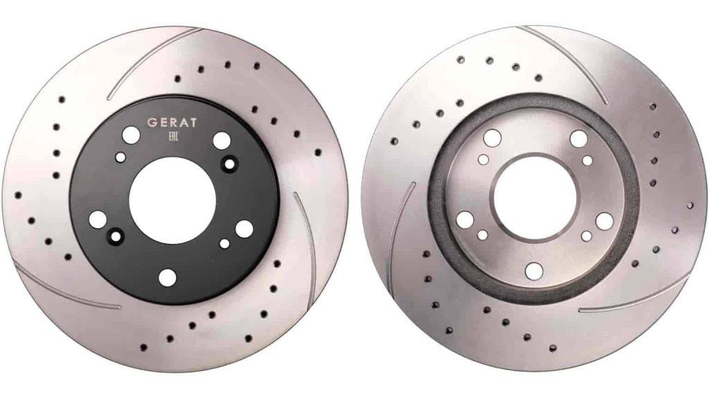 Тормозные диски с перфорацией и насечками